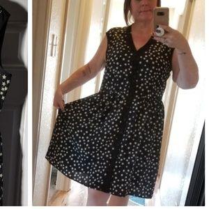 Sleeveless star print retro dress